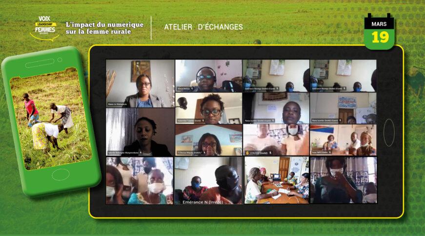 L'impact du Numérique expliqué aux femmes rurales bénéficiaires du Programme Voix et leadership des femmes