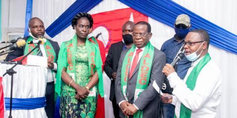 Bahati Lukwebo prend part à l'installation du comité fédéral de la Tshangu du parti ALDEC