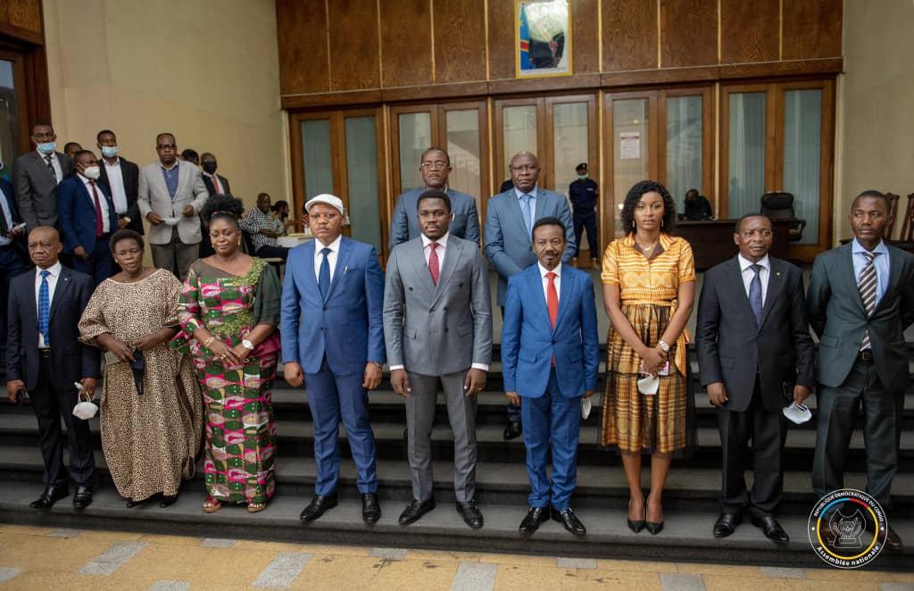 Le nouveau bureau de l'Assemblée nationale reçu par Félix Tshisekedi