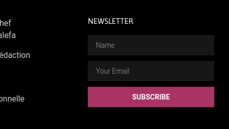 Newsletter Form PourElle.info