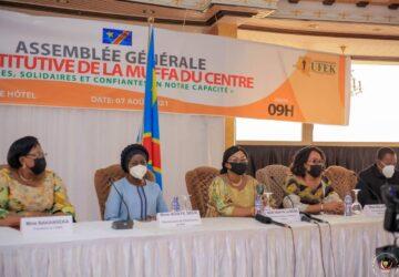 Gisèle Ndaya lance les travaux de l'Assemblée générale Constitutive  de la MUFFA du Centre
