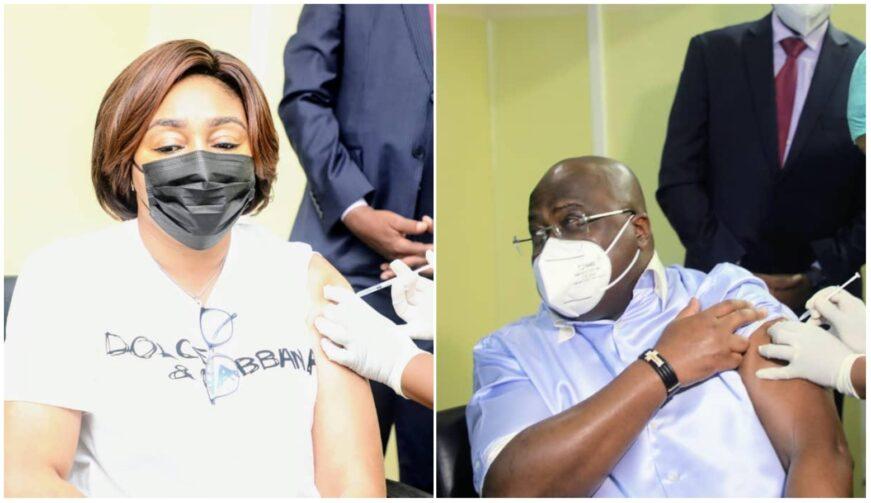 Lutte contre la Covid-19 en RDC: Le couple présidentiel s'est fait vacciner